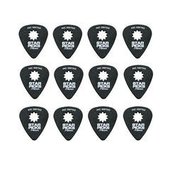 Everly Star Picks 351 Shape Delrin Guitar Picks .73mm 12 Pack Black