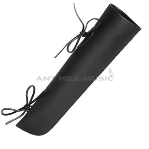 Ant Hill Music Genuine Leather Bass Bow Quiver - Black
