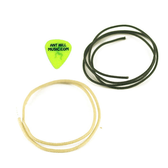 Ant Hill Music Wire Pack Gavitt Vintage Cloth Pickup Wire 6FT Black 6FT White - Ant Hill Music