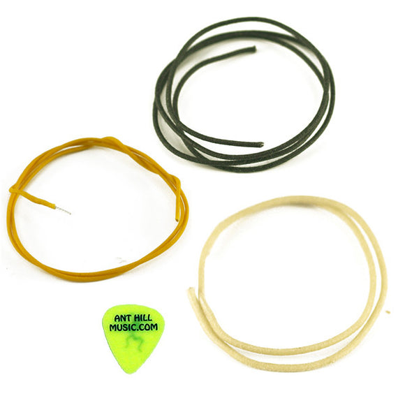 Ant Hill Music Wire Pack Gavitt Vintage Cloth Wire 20FT Each Black White Yellow - Ant Hill Music
