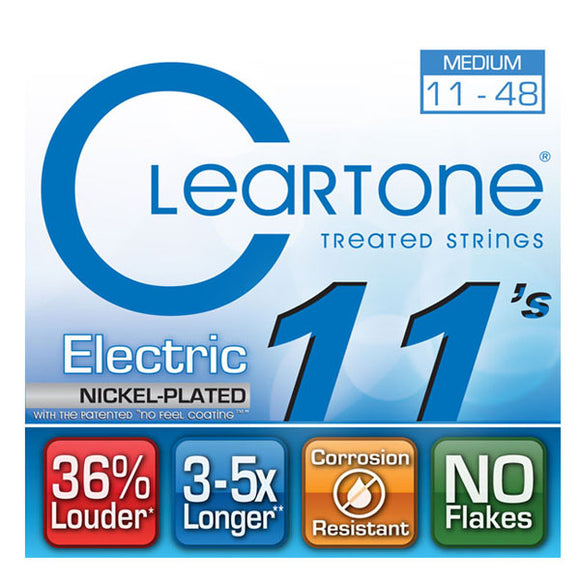 Cleartone Electric Guitar Strings Nickel Plated Medium 11-48 - 9411 - 1 Pack - Ant Hill Music