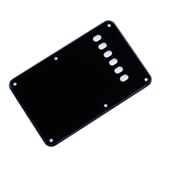 Ant Hill Music Stratocaster Backplate 3-Ply Black White Black - Ant Hill Music