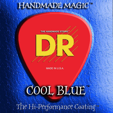 DR Strings - COOL BLUE - Electric Guitar Strings - Heavy - CBE-11 - 11-50