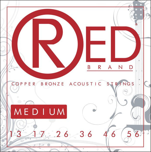 Cleartone RED Copper Bronze Acoustic Guitar Strings Med. 13-56 - 1 Pack - 7313 - Ant Hill Music