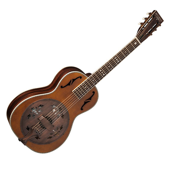 Washburn Revival Resonator Guitar Parlor Distressed Bronze Hardware/Case B-Stock
