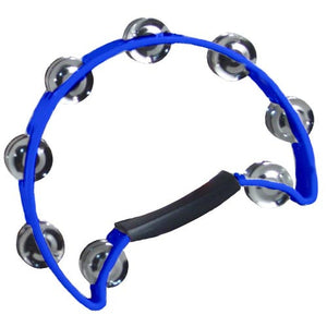 Coda Double Row Tambourine with Ergonomic Handle -Blue - Ant Hill Music