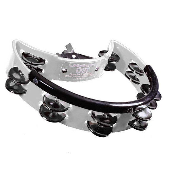 Rhythm Tech Drumset/Stand Mountable Tambourine in White w/Nickel Jingles -DST20