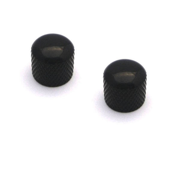 WD Music BBKB Brass Dome Guitar Knobs Black Set of 2 - Ant Hill Music