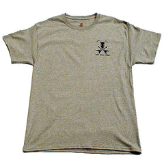 Ant Hill Music Flying V Guitar Ant Logo Men's T-Shirt in Gray