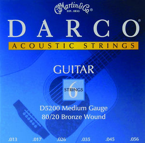 Darco 80/20 Bronze Acoustic Guitar Strings Medium 13-56 D5200 - Ant Hill Music