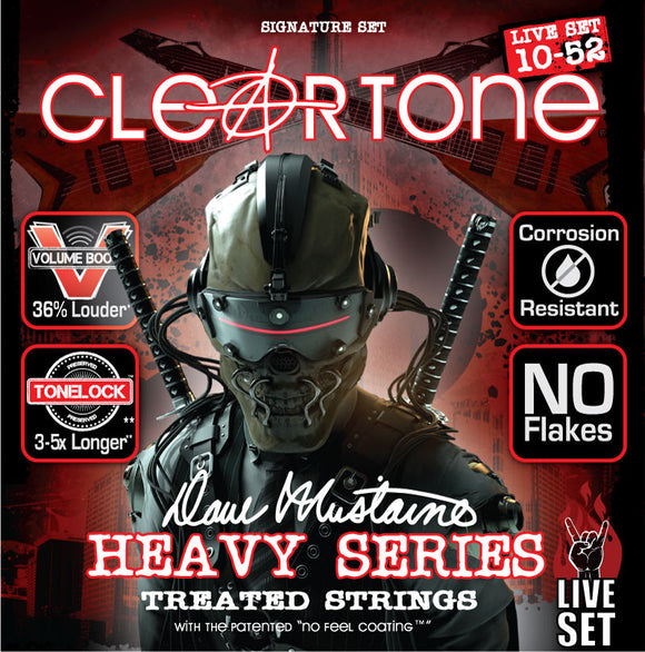 Cleartone Dave Mustaine Signature Guitar Strings Live Set 10-52 Gauge DML9520 - Ant Hill Music
