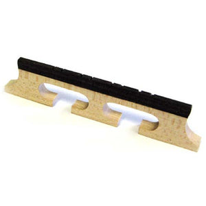 German Made Maple & Ebony Banjo Mandolin Bridge (1/2, Natural)