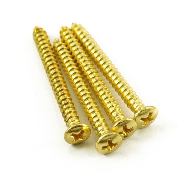 Bolt On Guitar Neck Screws Set of 4 - Gold - Ant Hill Music