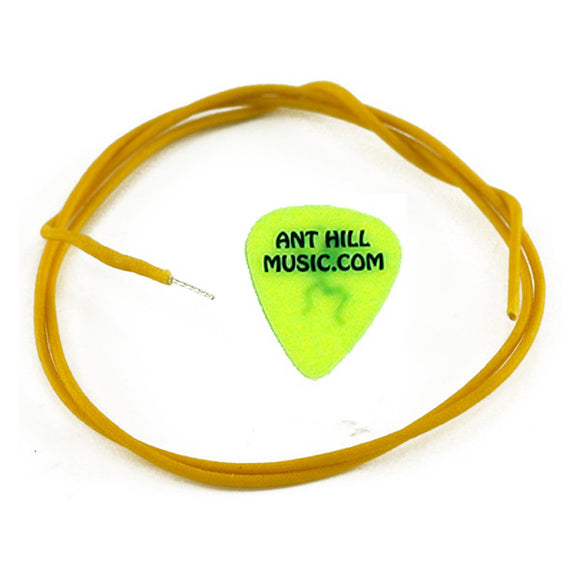 Ant Hill Music Wire Pak Gavitt Vintage Cloth Wire Yellow PushBack Insulation 1FT - Ant Hill Music