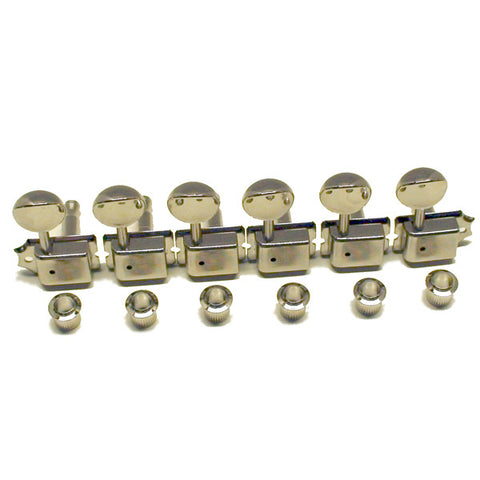 Gotoh SD91 Series Vintage Style 6 in-line Right Hand Standard Tuners in Nickel