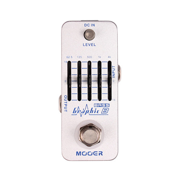 Mooer Audio Micro Series Graphic B 5 Band Equalizer For Bass Guitars MEQ2 - Ant Hill Music