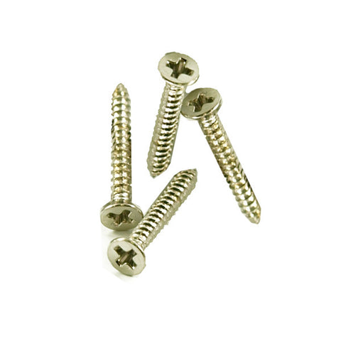 WD Music Humbucker Ring Mounting Screws 4 Pack Short Nickel HMRSC