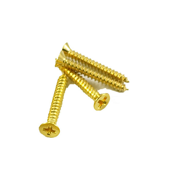WD Music Humbucker Ring Mounting Screws 4 Pack Short Gold HMRSG