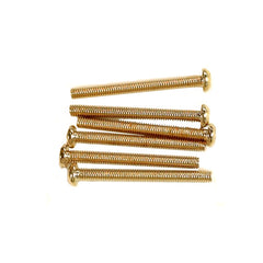 Replacement Humbucker Mounting Screws - Gold- 6 pack - HPHG