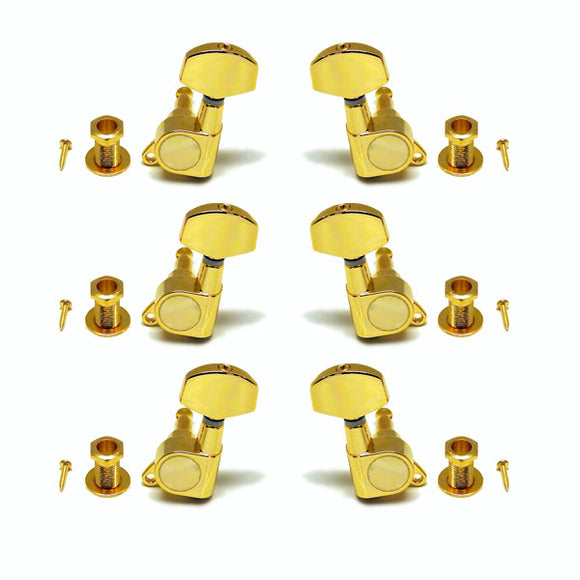 Ant Hill Music Guitar Tuning Machines 3x3 fit Acoustic or Electric Guitar Gold