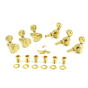 Kluson Contemporary 19:1 Ratio Guitar Tuning Machines 6 IN LINE Gold KCD-3805GL