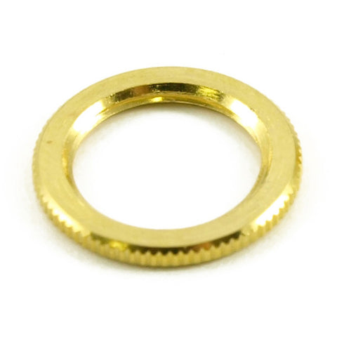 WD Music Knurled Dress Nut Fits Switchcraft Guitar Switch Gold KDNUS GD