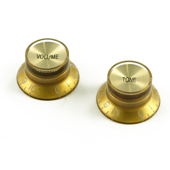WD Music - Bell Guitar Knob - Gold - Volume and Tone - Set of 2 - KG130