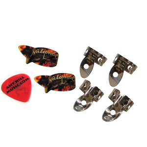 National NP2 Finger Picks & Thumb Pick Set LRG TORT + Free Ant Hill Music Pick!