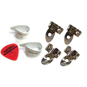 National Vintage NP2 Finger Pick & Large Thumb Pick Set + Ant Hill Music Pick - Ant Hill Music