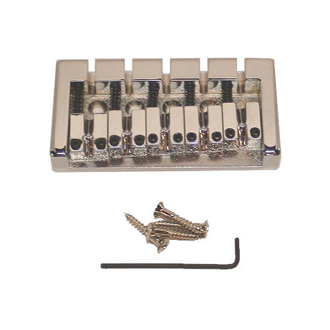 Mighty Mite 5 String Bass Guitar Bridge Chrome Plated Brass MM1205C