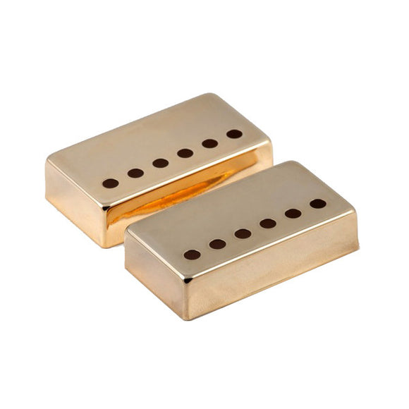 Mighty Mite Humbucker Pickup Covers Import Pole Spacing Gold 2 pack