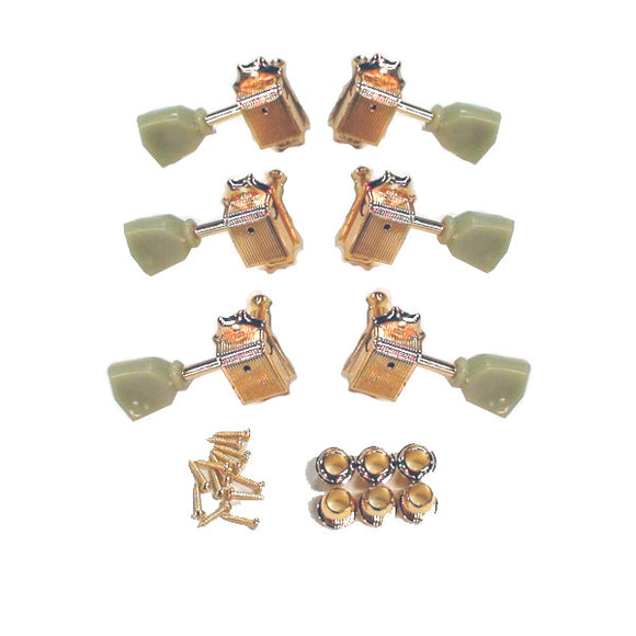 Mighty Mite Electric Guitar 14:1 Ratio Vintage Style Tuning Machines 3X3 Gold