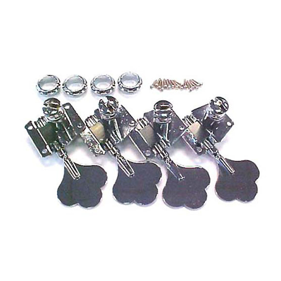 Mighty Mite Vintage Style Electric Bass Guitar Tuning Machines - Chrome - Ant Hill Music