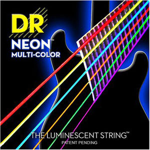 DR Strings Neon Multi-Colored Electric Guitar Strings 10-46 MED 2 Pack Special - Ant Hill Music