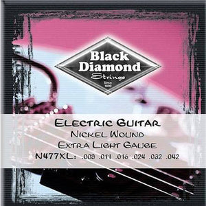 Black Diamond Strings 477 Series Nickel Round Wound 9-42 Gauge N477XL - Ant Hill Music