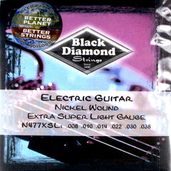 Black Diamond Strings 477 Series Nickel Round Wound 8-38 Gauge N477XSL
