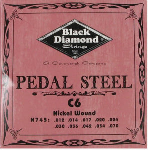 Black Diamond Strings Pedal Steel Guitar C6th Tuning 10 String N745 - Ant Hill Music