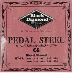 Black Diamond Strings Pedal Steel Guitar C6th Tuning 10 String N745