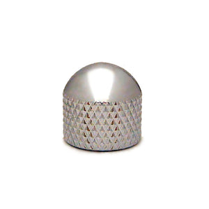 Ant Hill Music Audio Control Knob Short Round Dome Top Fit Split Shaft Chrome