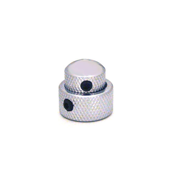 Ant Hill Music Amplifier Concentric Control Knob set in Chrome with Set Screws - Ant Hill Music