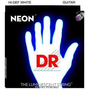 DR Strings - NEON - HI-DEF-WHITE- Electric Guitar Strings - MED - NWE-10 - 10-46 - Ant Hill Music