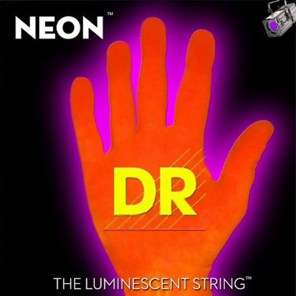 DR Strings - NEON - HI-DEF-ORANGE - Bass Guitar Strings - 5 String - Med  45-125 - Ant Hill Music