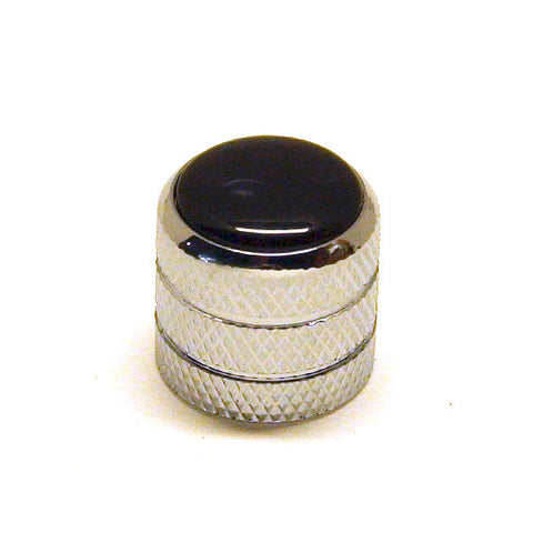Ant Hill Music Audio Control Knob Dome Top Fit Split Shaft Pot Chrome/BLK PRL
