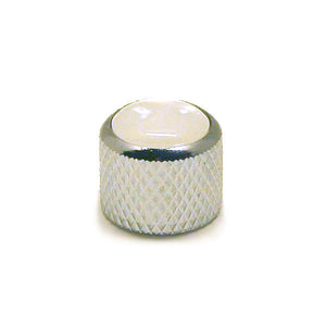 Ant Hill Music Audio Control Knob Short Dome Top Fit Split Shaft Chrome/WHT PRL - Ant Hill Music