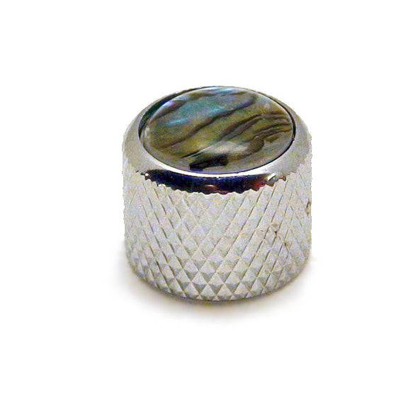 Ant Hill Music Audio Control Knob Short Dome Top Fit Split Shaft Chrome/Abalone - Ant Hill Music