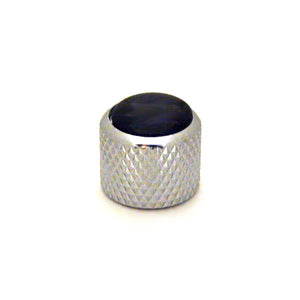 Ant Hill Music Audio Knob Chrome Dome Top Black Pearl Fits Alpha Split Shaft - Ant Hill Music