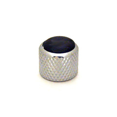 Ant Hill Music Audio Knob Chrome Dome Top Black Pearl Fits Alpha Split Shaft