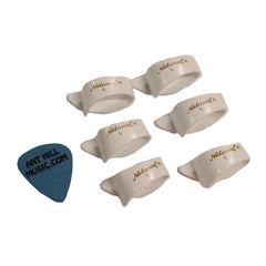 National Thumb Picks 6 Pack White Large + Free Ant Hill Music Pick!