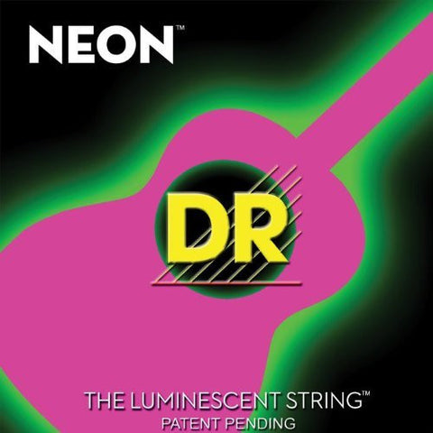 DR Strings - NEON - HI-DEF-PINK - Acoustic Guitar Strings - Med - NPA-12 12-54