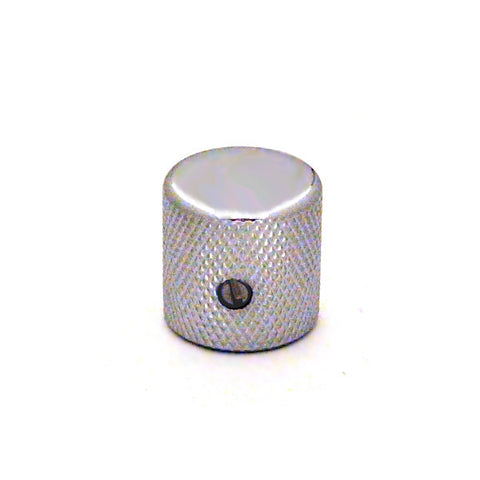 Ant Hill Music Guitar Control Knob Flat Top Fits Split and Solid Shaft Chrome